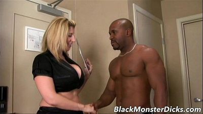 Big Boob Sara Jay Double Stuffed with Black CockHD