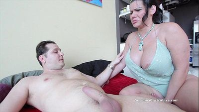 Sara Jay & Angelina Castro fucking Huge White Cock!HD