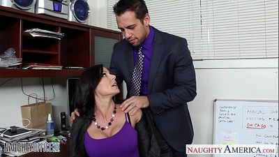Hottie brunette Kendra Lust fucking in the officeHD