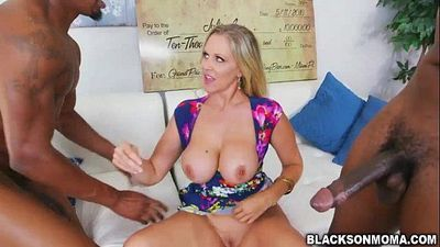 Horny chick Julia Ann fucks a hard cock