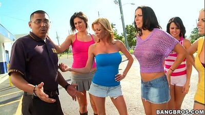Dirty pornstar sex at bowling alley w/ Rachel Starr, Diamond Kitty, Alexis FawxHD