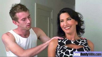 Hard Style Sex On Tape With Big Melon Tits Hot Mommy (lezley zen) movie-22