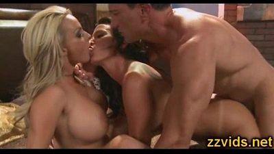 Lezley Zen Holly Halston threesome