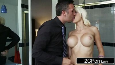 Young Blonde Bimbo Rikki Sixx Getting Paid in CockHD