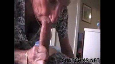 Grandmas Roommate Getting Fed Cum - More at cuntcams.net - 2 min