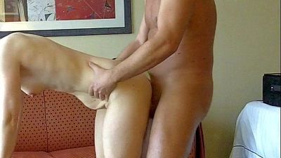 Fucking a co-worker on a business trip in her hotel room - girlsfuckoncam.com - 2 min