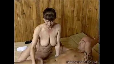 Grannys Naughty Blowjob - 1 min 36 sec