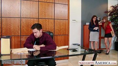 Milf office babes Darla Crane and Syren De Mer share dick - 8 min HD