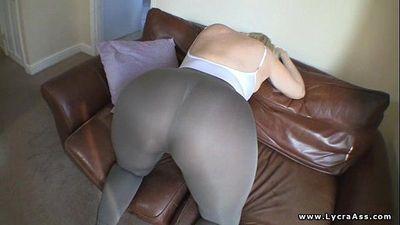Huge ass big butt woman in sheer lycra - 1 min 20 sec