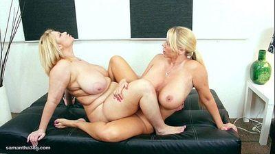 Sexy Huge Boob BBW MILFS Suck Nipples and Pussy - 2 min HD