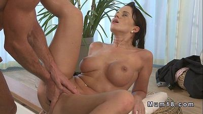 Busty mature lady bangs in hot tub till creampie - 10 min HD