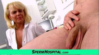 A boy gets handjob healthcare from dirty milf doctor Koko - 6 min