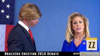 Donald Drumpf fucks Hillary Clayton during a debate - 6 min