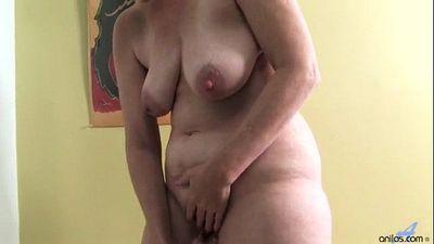 Ray Lynn mature dildo masturbation - 4 min