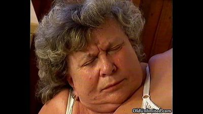 Horny grandma loves sucking some young - 5 min