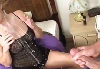 Blonde Milf Cum-Splattered - 4 min