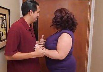 Busty BBW MILF Lady Lynn Fucks Landlord to Save House - 2 min