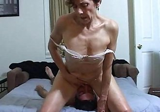 Horny MILF facesits a slave for ass licking and cleaning - 2 min