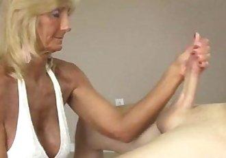 Horny Granny Jerking Off - 4 min
