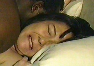 Japanese housewife Machiko fucked black. - 2 min