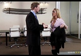 Slutty wet MILF Devon seduces her boss for a quick fuck at workHD