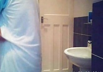 Hidden cam in bath room finally caught my cute mom nude !! - 1 min 9 sec