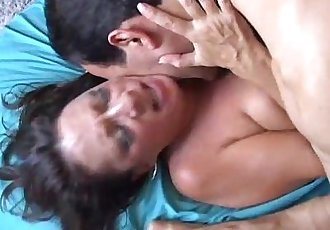 Beautiful mature babe Margo enjoys a big facial cumshot