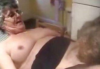 Having fun with my old slut. Real amateur granny - 2 min
