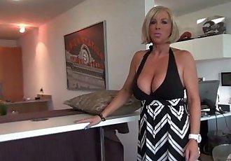 Busty Blonde MILF Sucks And Swallows CumHD