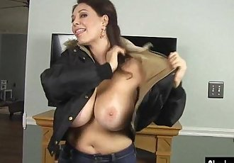 Busty Charlee Chase Sucks Cock in Puffy Winter CoatHD+