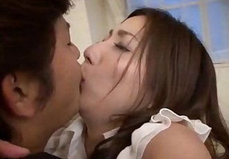 Mirei Yokoyama blows it hard before gettin nailed - 12 min