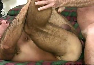 Hot Macho Muscle bears fuck each other bareback