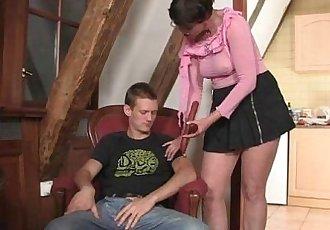 Cock-hungry granny seduces son in law - 6 min