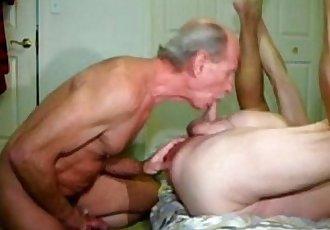 Two daddies fucking bareback