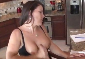 Jerking The Old Man In The Kitchen - 3 min