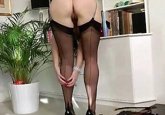 Stockings milf facialized