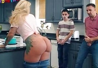 Ryan Conner fucked by her sons friends