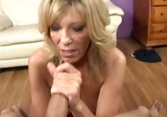 Sexy mature fascinated by hard cock
