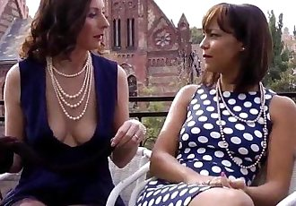 Nylon fetish lesbian fun with british matureHD