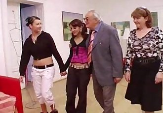 Hot babes suck grandpas cock - 6 min