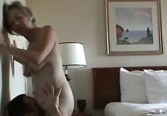 Licking a horny mature pussy on cam - 5 min