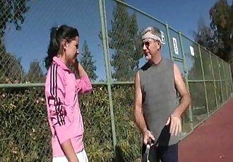 Young whore fucks tennis coach - 4 min