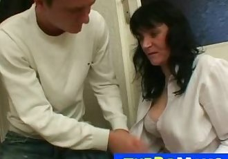 Czech housewife Agnes got big naturals and loves young boys