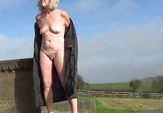 Amateur granny naked in public 1