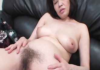 Chiyo Fujimura - Busty JAV Mature Riding On A Young Cock