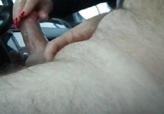 Slutty housewife rubbing her husband\
