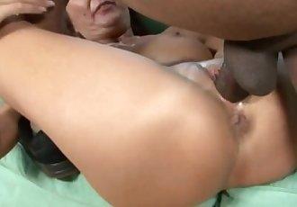 Naughty MILF enjoys pleasing a black cock