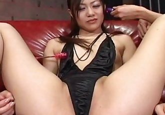 Cute Japanese babe toyed hard – uncensored - 7 min