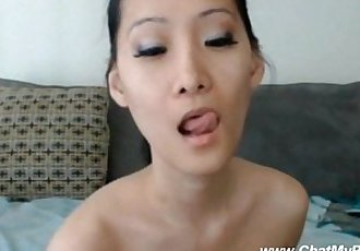 Asian Wife Dildoing Pussy For Friend On Chat - 6 min