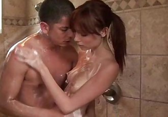 Sexy babe giving soapy massage to customer - 5 min